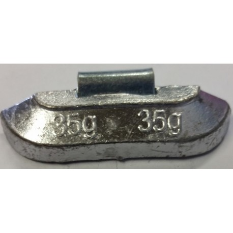 Clip On Wheel Weight Alloy Rim